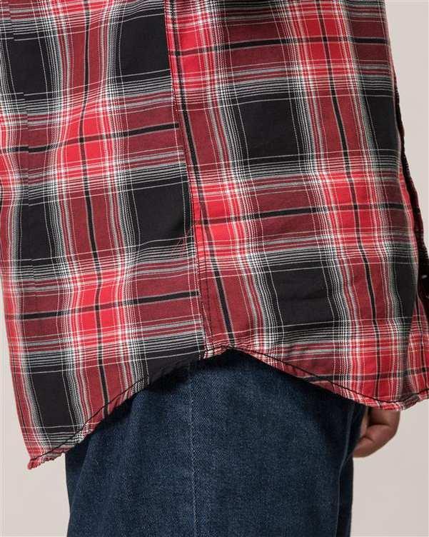پیراهن مردانه قرمز مشکی چهارخانه Ebra