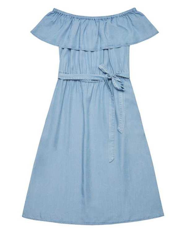 پیراهن زنانه آف شولدرز آبی مودو