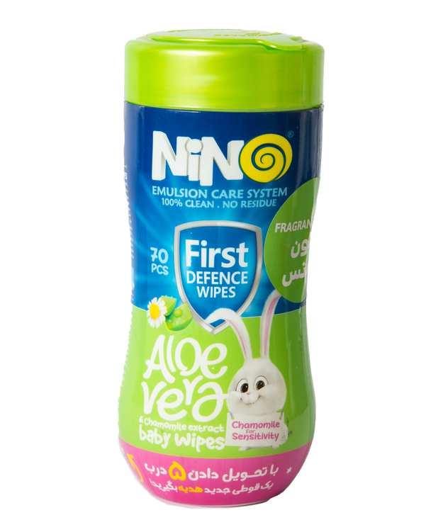 بسته 70 عددی دستمال مرطوب پاک کننده کودک نینو