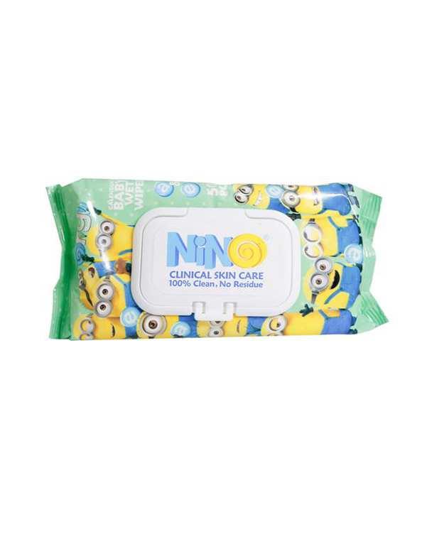 دستمال مرطوب پاک کننده کودک ویتامینه 50 برگ نینو