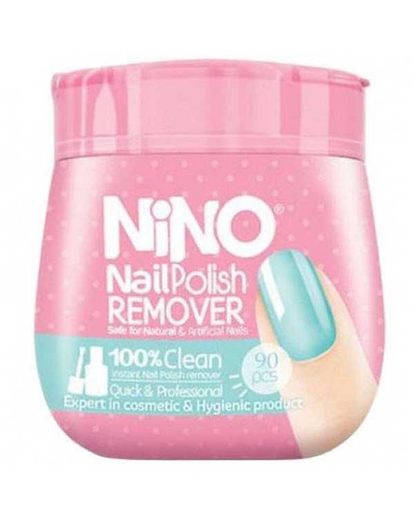 دستمال مرطوب پاک کننده لاک 90 عددی نینو