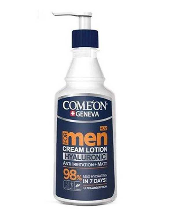 کرم مرطوب کننده پوست مخصوص آقایان حجم 400 میل COME'ON