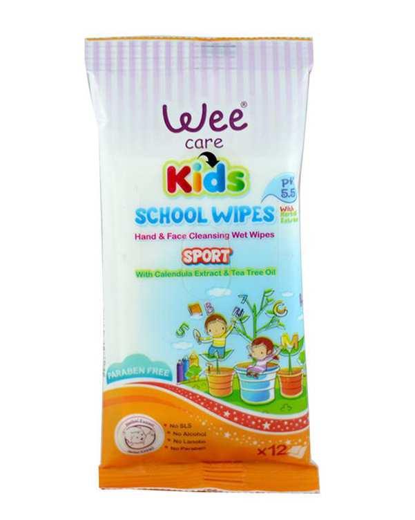 دستمال مرطوب و پاک کننده دست و صورت کودک 12 برگ Wee Care