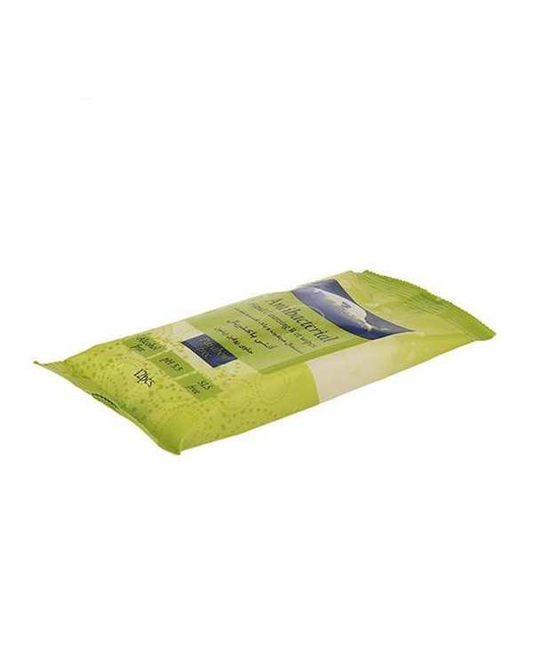 دستمال مرطوب آنتی باکتریال حاوی روغن زیتون 12 برگ Uni Led