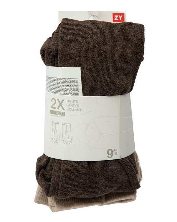 بسته 2 عددی جوراب شلواری دخترانه کرم قهوه ای Zippy