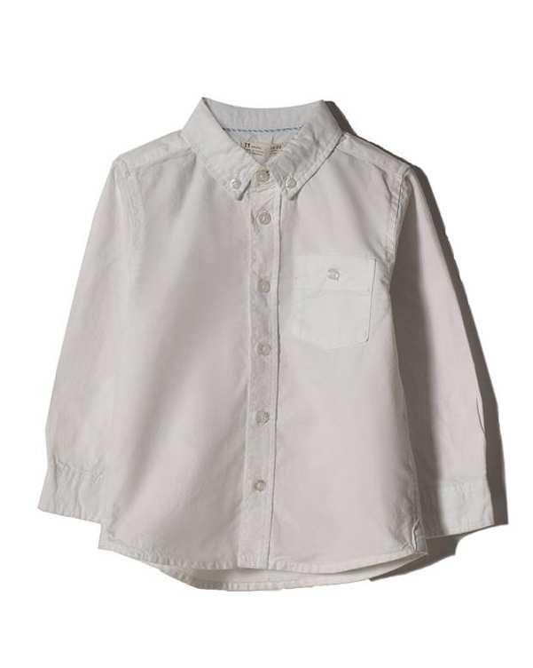 پیراهن پسرانه نوزادی نخی سفید Zippy