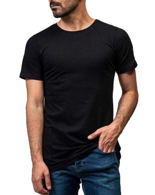 تی شرت مردانه نخی مشکی سورا