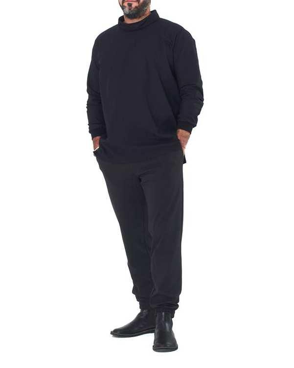 تی شرت مردانه آستین بلند مدل استیو جابز مشکی هیتو استایل