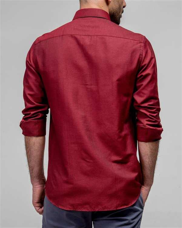پیراهن مردانه زرشکی ادموند