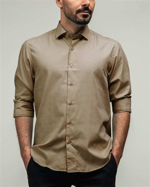 پیراهن مردانه نسکافه ای ادموند