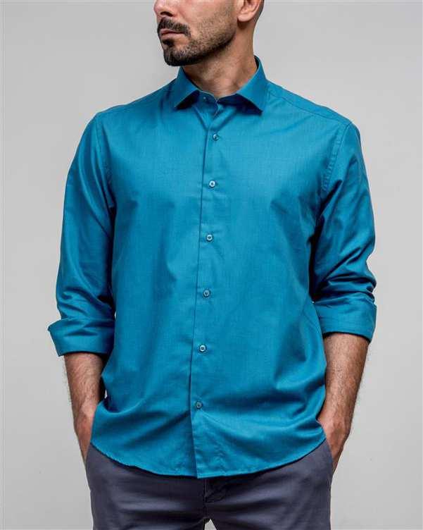 پیراهن مردانه آبی نیلی ادموند