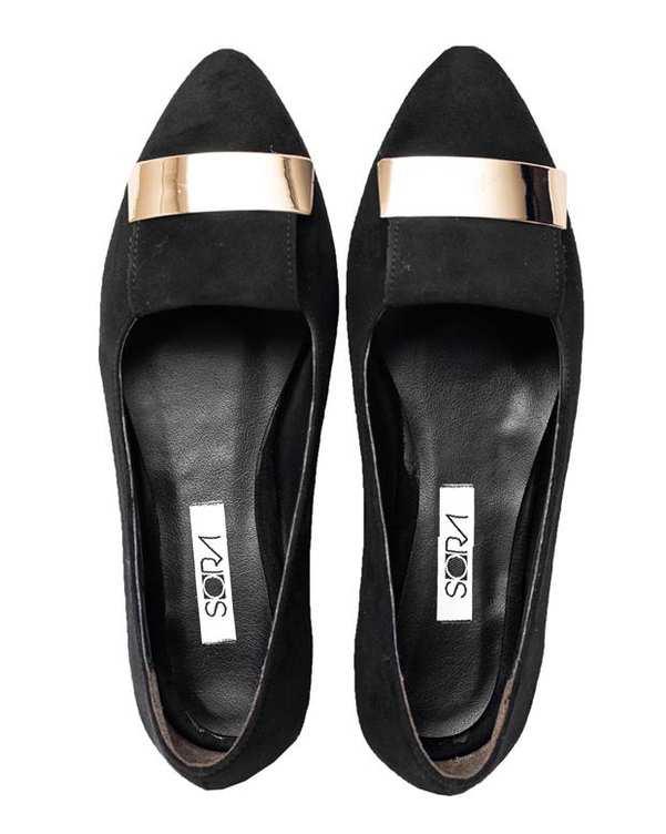 کفش زنانه کژوال مشکی سورا