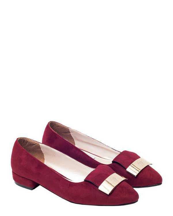 کفش زنانه کژوال زرشکی سورا