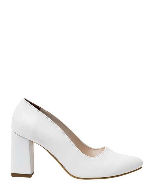 کفش زنانه پاشنه بلند سفید سورا