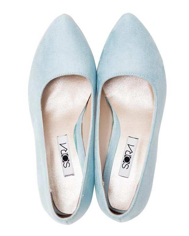کفش زنانه پاشنه بلند سوئیت آبی فیروزه ای سورا