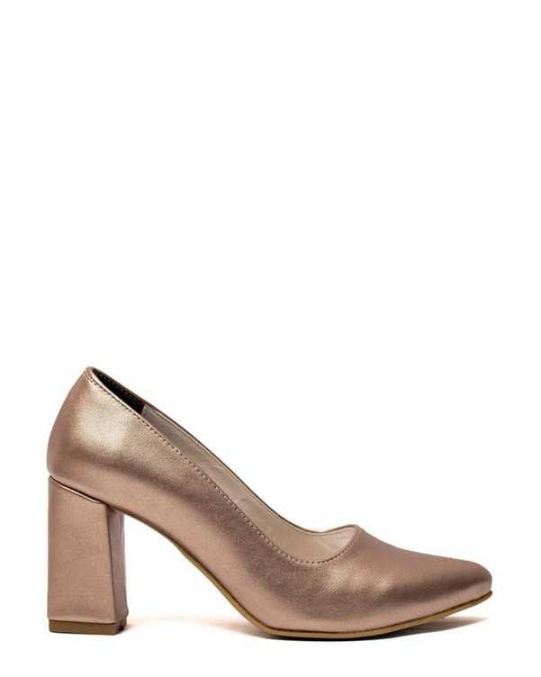 کفش زنانه پاشنه بلند رزگلد سورا