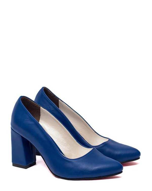 کفش زنانه پاشنه بلند آبی کاربنی سورا
