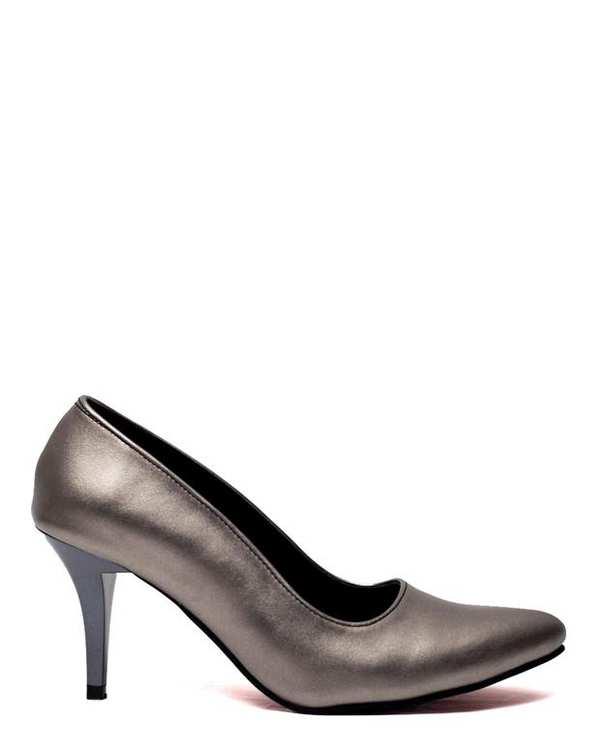 کفش زنانه پاشنه بلند پلاتینی سورا