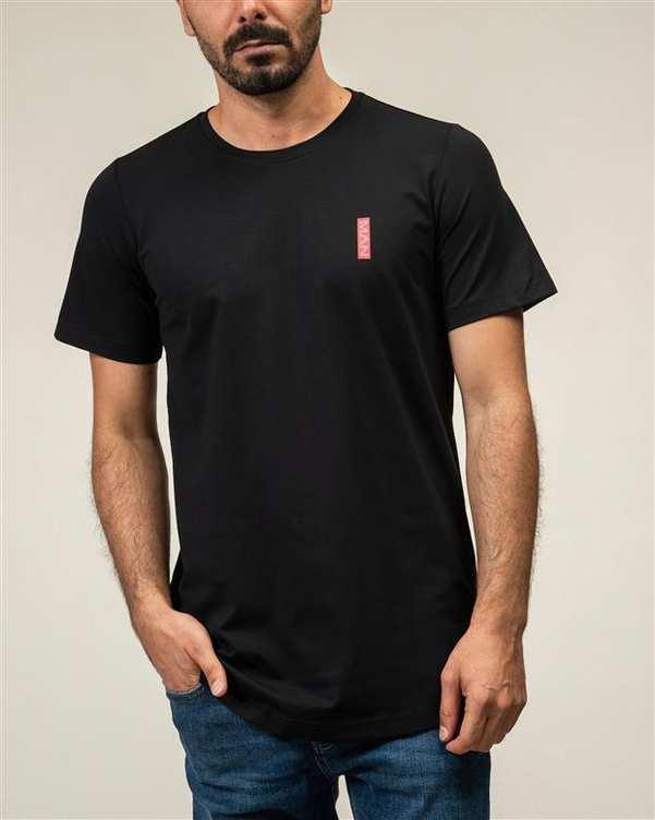 تی شرت مردانه یقه گرد نخی مشکی JPA