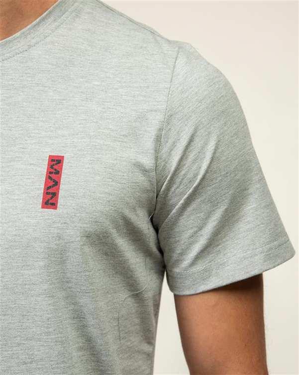 تی شرت مردانه یقه گرد نخی طوسی JPA