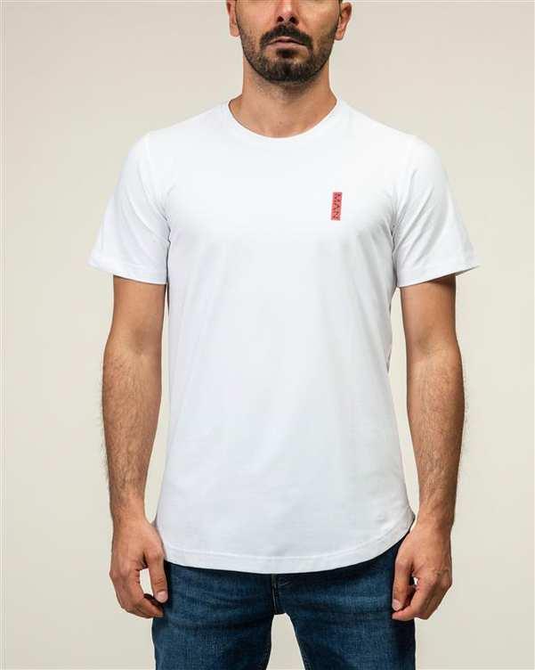 تی شرت مردانه یقه گرد نخی سفید JPA
