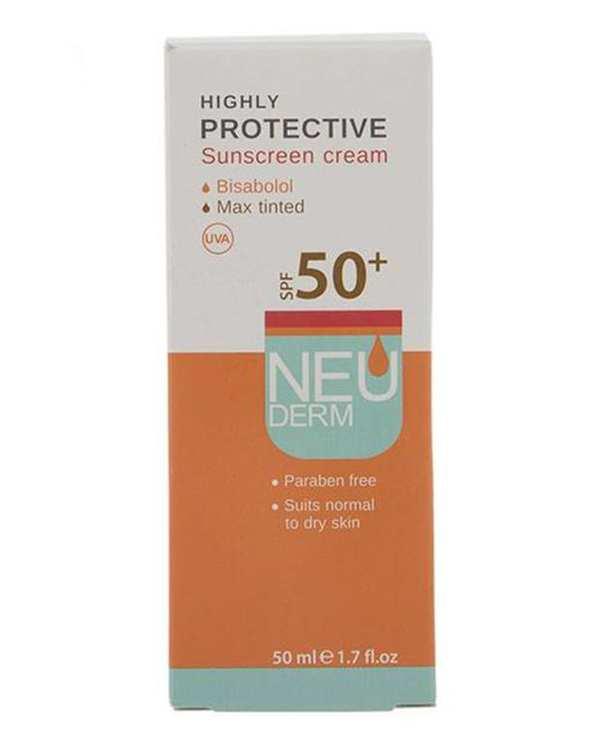 کرم ضد آفتاب Highly Protective رنگی Spf 50 نئودرم