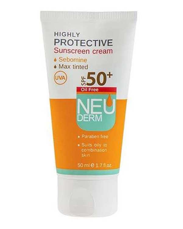 کرم ضد آفتاب Highly Protective بی رنگ Spf 50 نئودرم