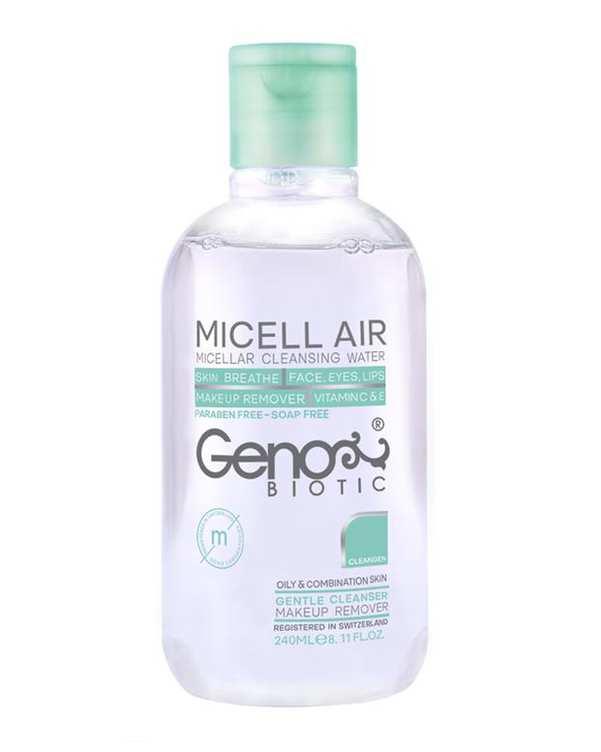 پاک کننده آرایش میسلار ویژه پوست های چرب و مختلط ژنو بایوتیک