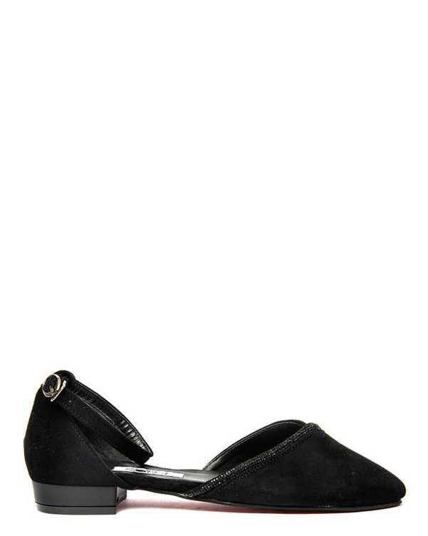کفش زنانه کژوال جیر مشکی سورا