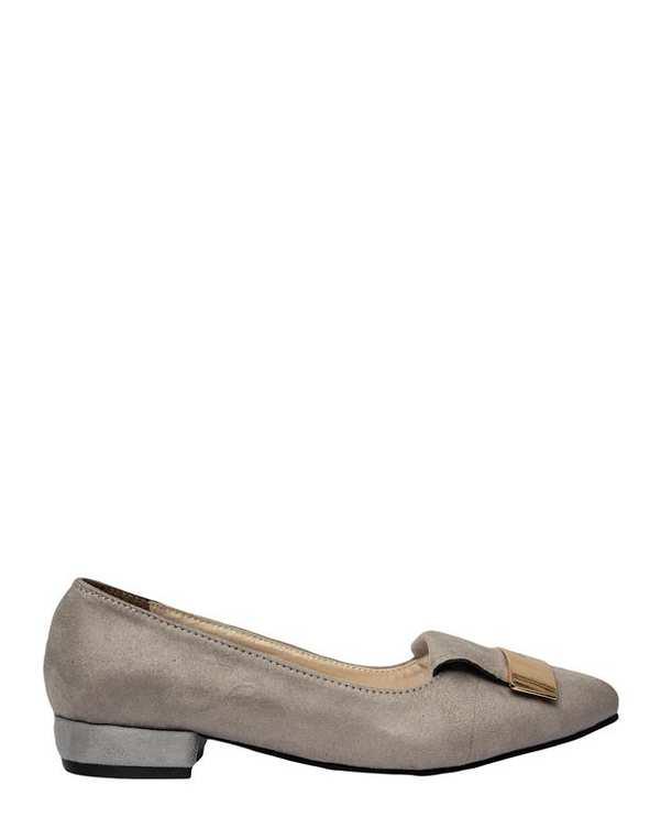 کفش زنانه کژوال جیر طوسی سورا