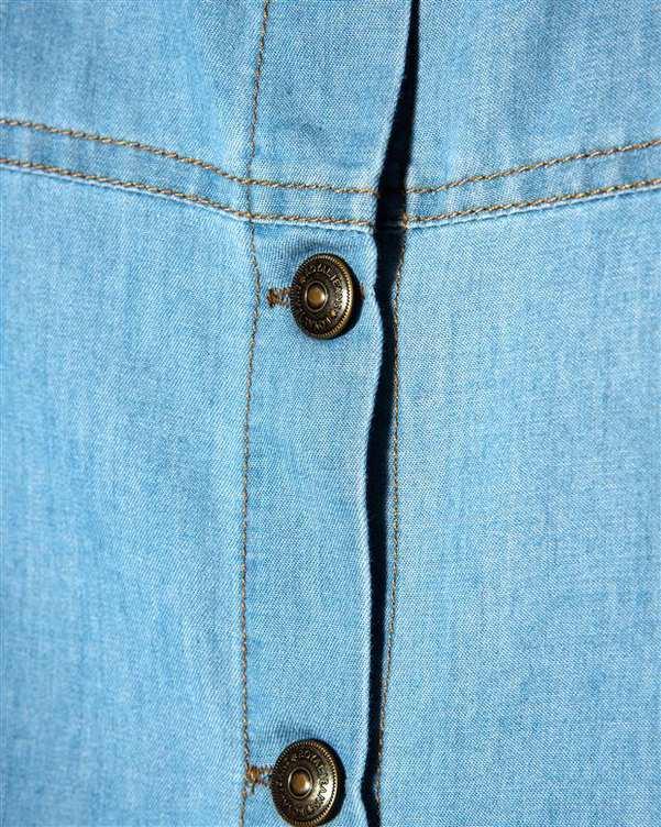 سارافون زنانه جین کاغذی آبی رویال جین