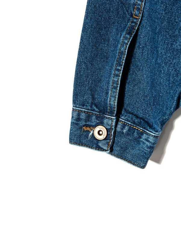 کت زنانه کوتاه جین آبی تیره رویال جین
