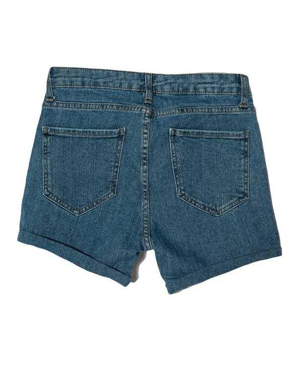 شلوارک زنانه جین آبی رویال جین