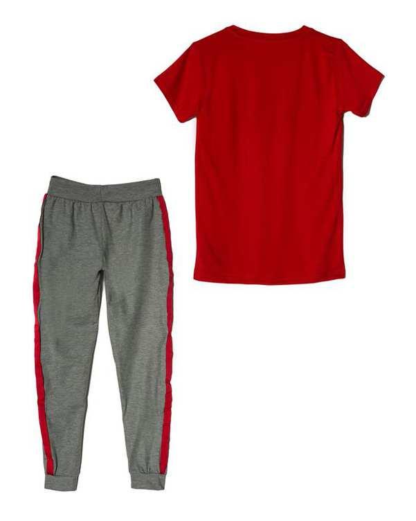 لباس راحتی زنانه مدل Sport Land قرمز طوسی پاتیک Pattik