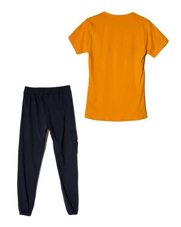 لباس راحتی زنانه مدل Sonex نارنجی سرمه ای پاتیک Pattik
