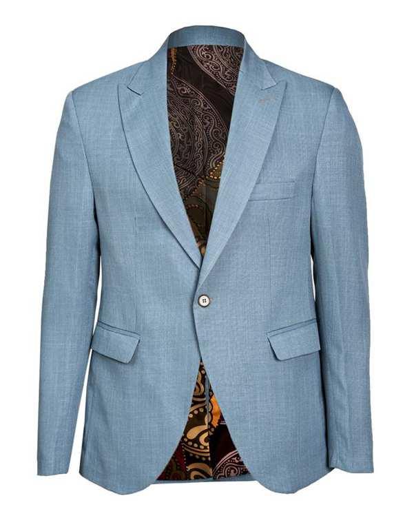 کت مردانه آبی Borcello