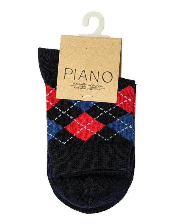 جوراب پسرانه ساق کوتاه سرمه ای پیانو