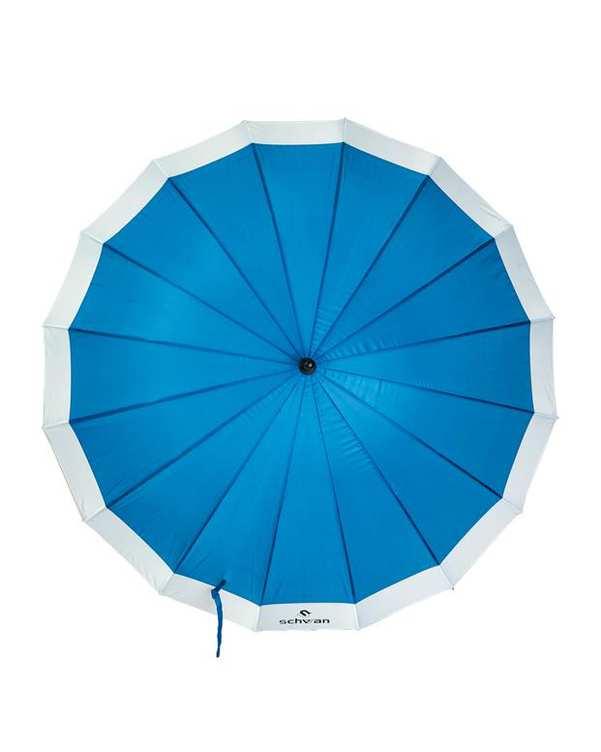 چتر مدل طوفان آبی سفید شوان