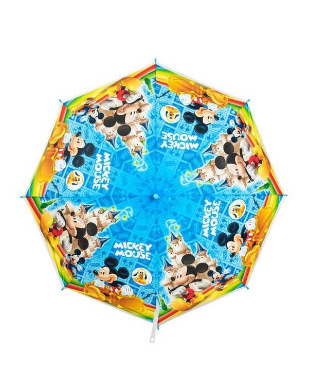 چتر بچگانه نایلونی آبی زرد طرح میکی موس دامودیس