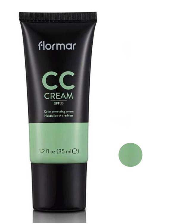 کرم پودر CC ضد قرمزی پوست با SPF20 شماره 02 حجم 35ml فلورمار