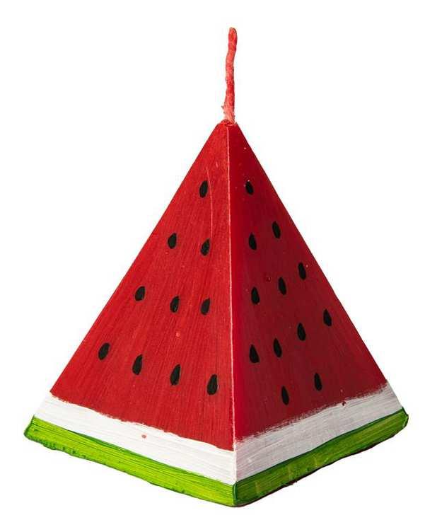 شمع طرح هندوانه مثلثی کارن Karen