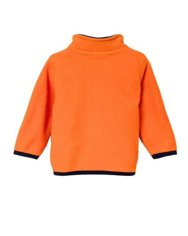 سویشرت نوزادی جلو بسته نارنجی سرمه ای زیپی