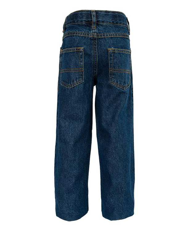شلوار بچگانه جین آبی تیره زیپی