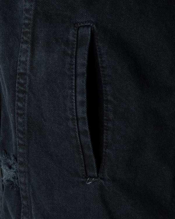 کت زنانه جین زغالی رویال جین