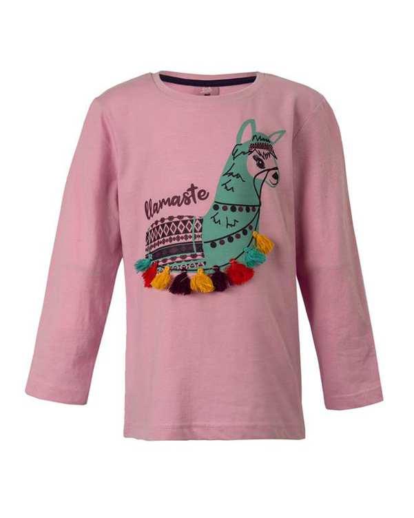 تی شرت دخترانه آستین بلند یاسی کیکی اند کوکو