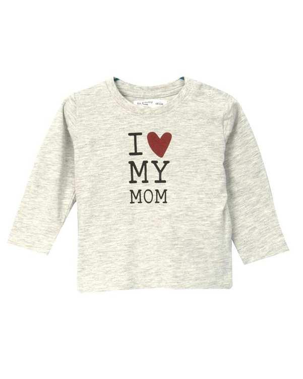 تی شرت نوزادی آستین بلند طوسی روشن فاکس اند بانی