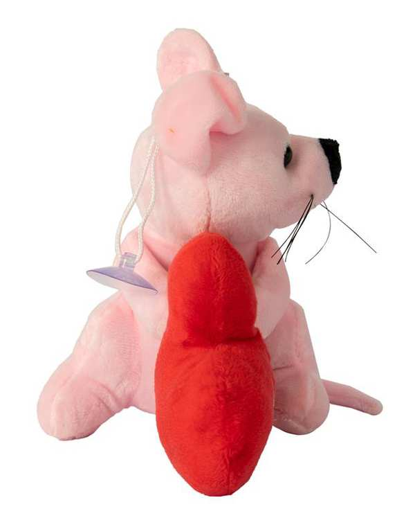 آویز عروسکی پولیشی موش و قلب صورتی قرمز Kidsland