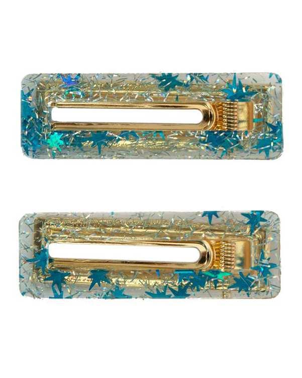 گیره سر آبی طلایی گالری کیان بسته 2 عددی
