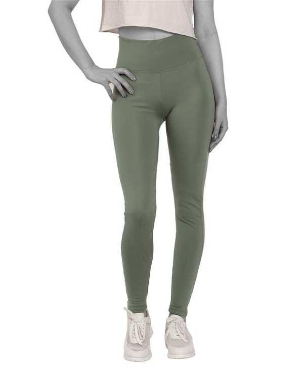 لگینگ زنانه ورزشی گن دار Slim Effect مدل 23957 سبز سدری آگی