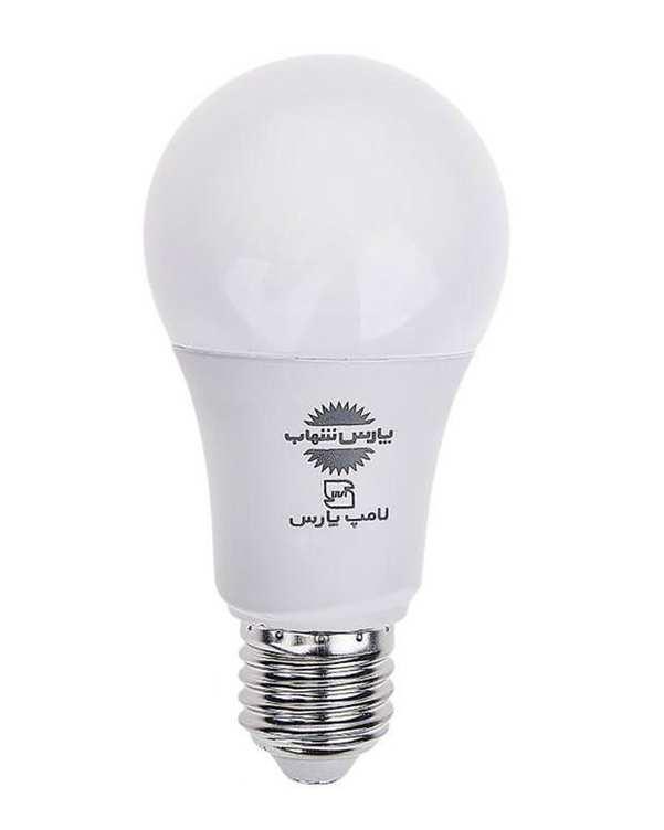 لامپ LED مدل حبابی A60 مات 9 وات مهتابی پارس شهاب